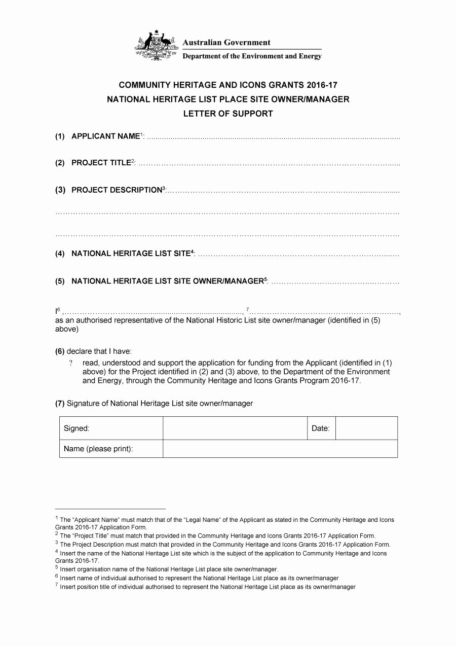Letters Of Support Templates Awesome 40 Proven Letter Of Support Templates [financial for