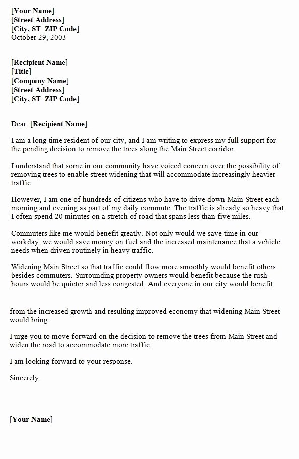 Letters Of Support Templates Beautiful Letter Support Template
