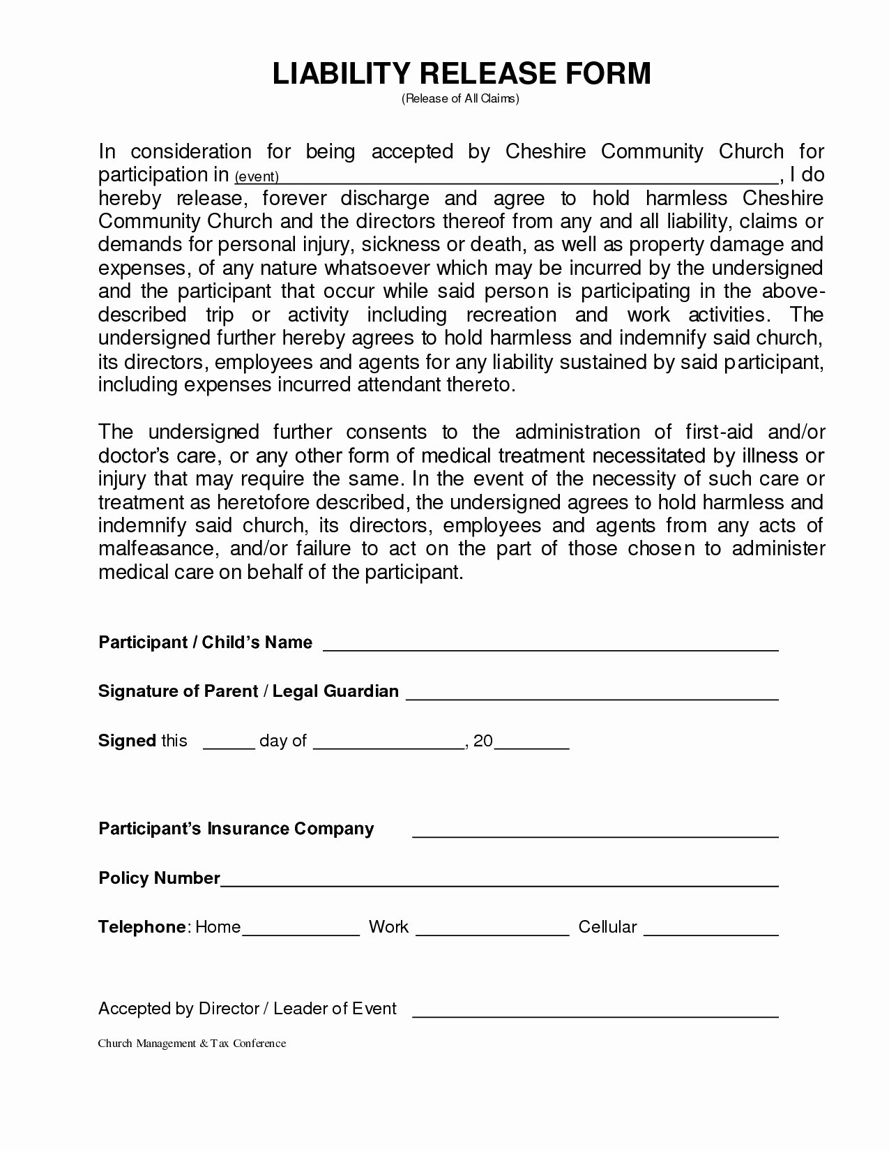 Liability Release form Template Elegant Personal Injury Waiver form – Emmamcintyrephotography