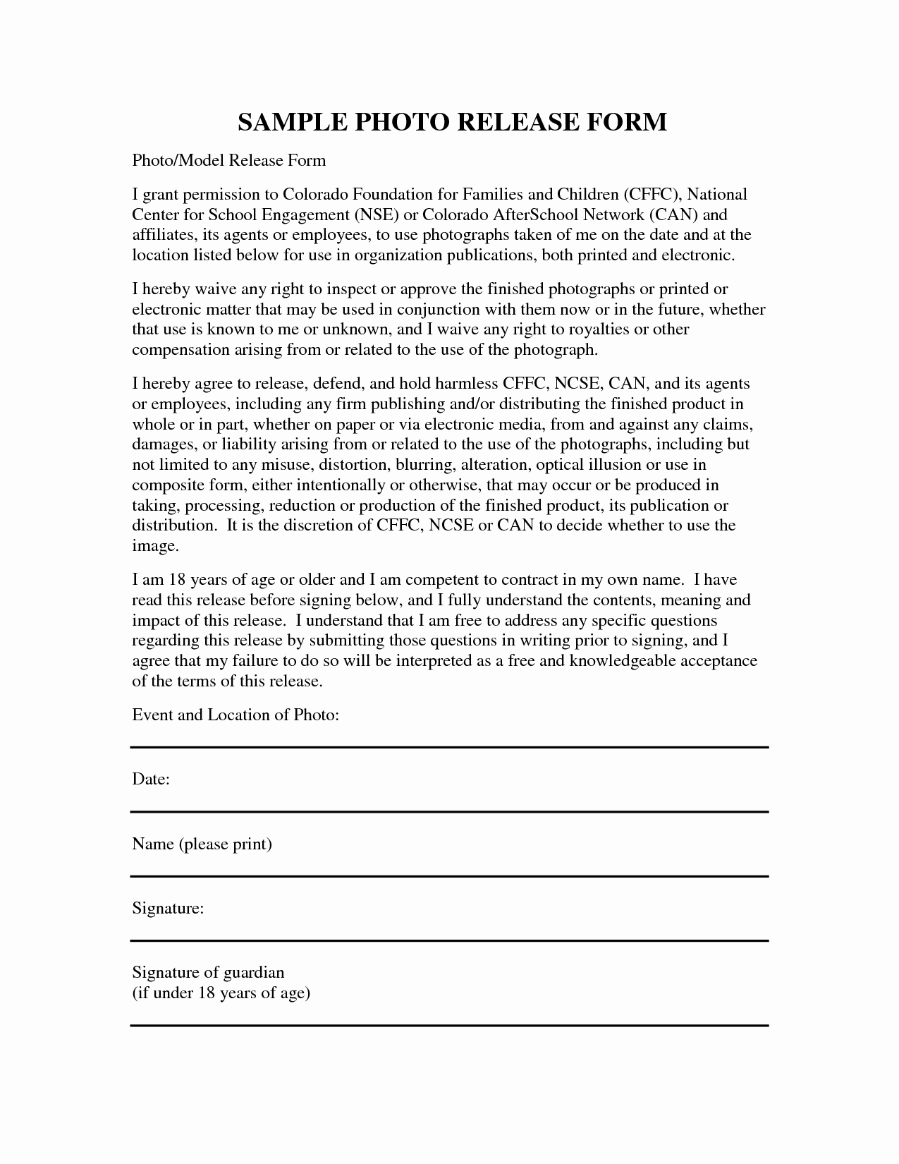 Liability Release form Template Inspirational Liability Release form Template Free Printable Documents