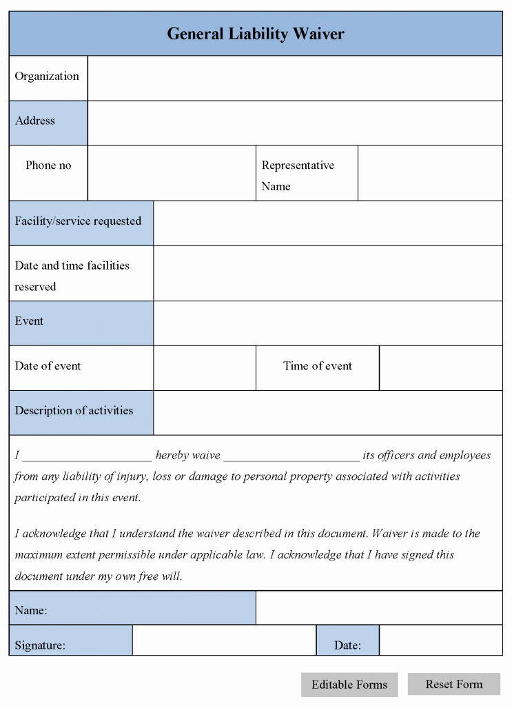 Liability Release form Template Luxury Free Printable Release and Waiver Liability Agreement