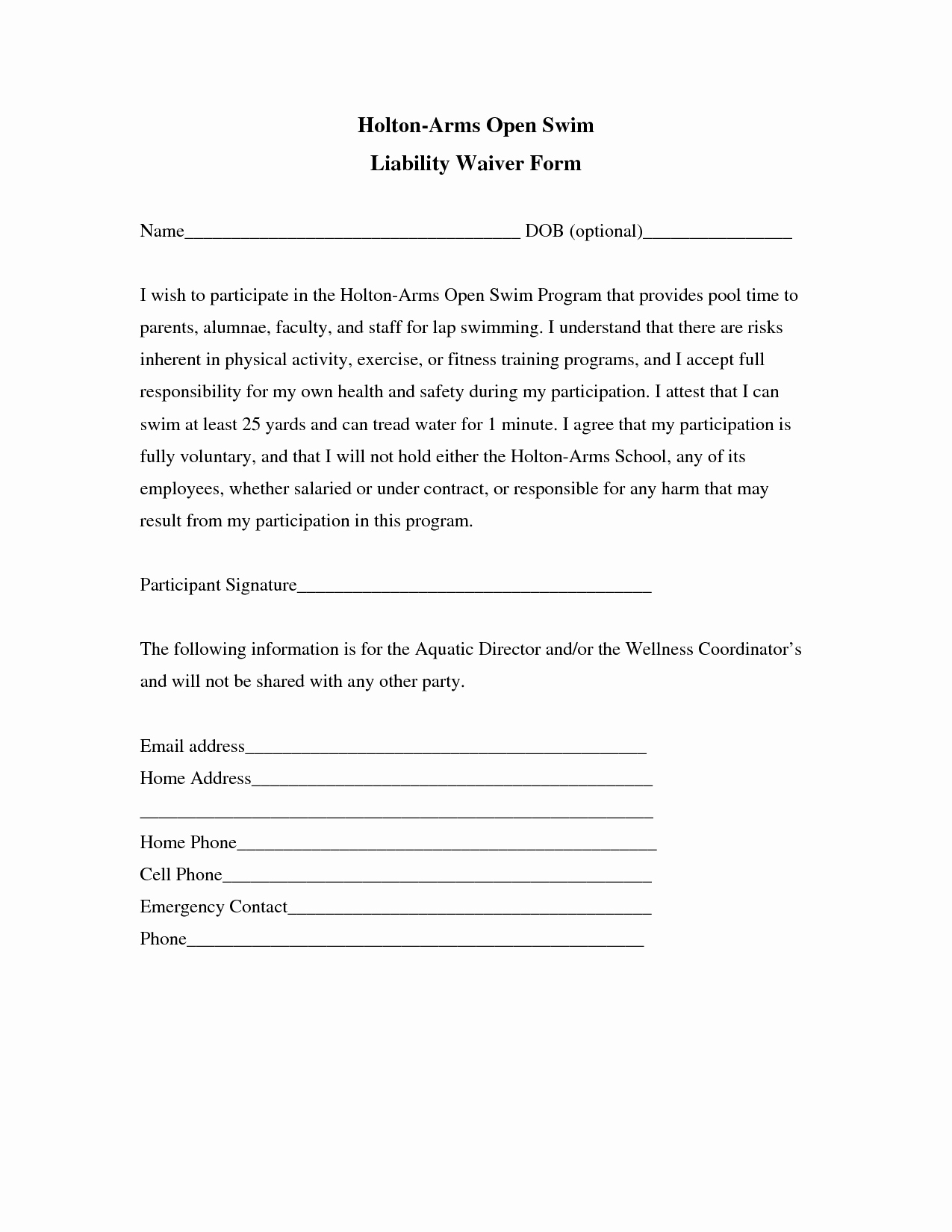 Liability Release form Template Luxury Liability Release form Template Free Printable Documents