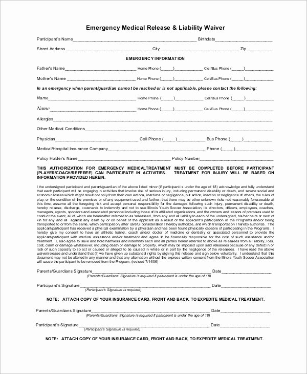 Liability Release form Template New Sample Liability Waiver form 10 Examples In Word Pdf