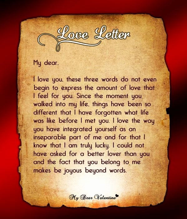 Love Letters to Him Elegant You are My Man Love Letters for Him