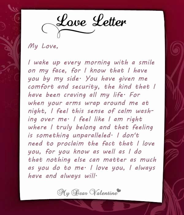 Love Letters to Him Unique I Wake Up Every Morning with You at My Side