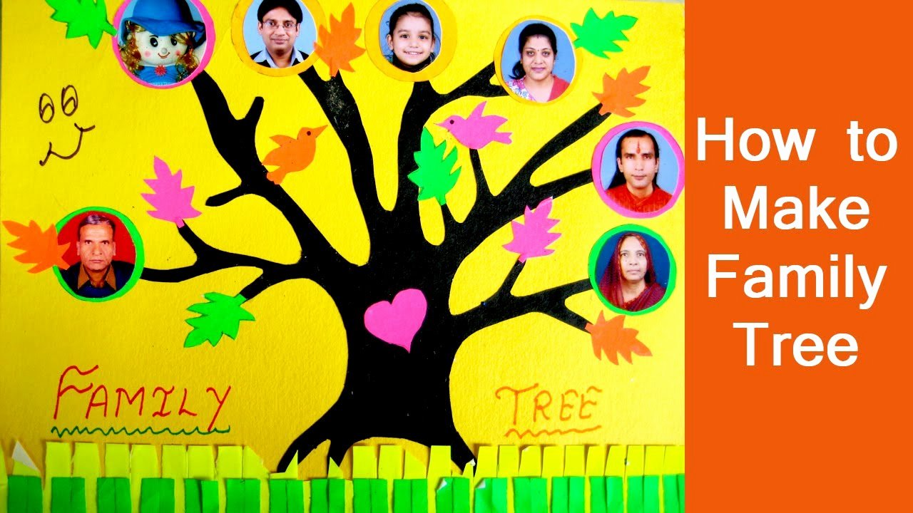 Make Your Own Family Tree Awesome Family Tree for Kids Project How to Make Your Own Simple