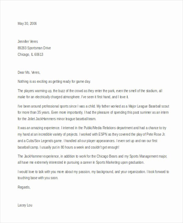 Marketing Cover Letter Sample Luxury 11 Marketing Cover Letter Templates Free Sample
