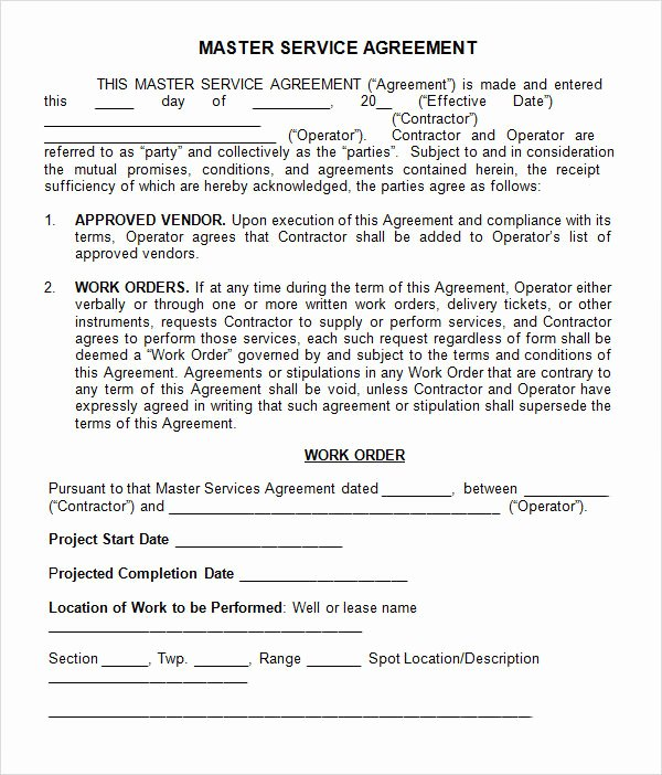 Master Service Agreement Template Elegant 15 Sample Master Service Agreement Templates