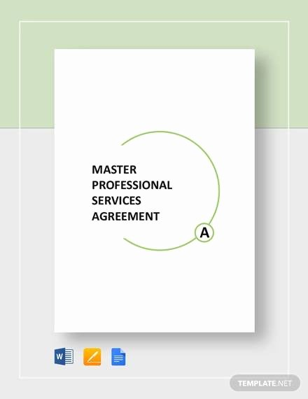 Master Service Agreement Template Fresh Free 18 Service Agreement Templates In Google Docs