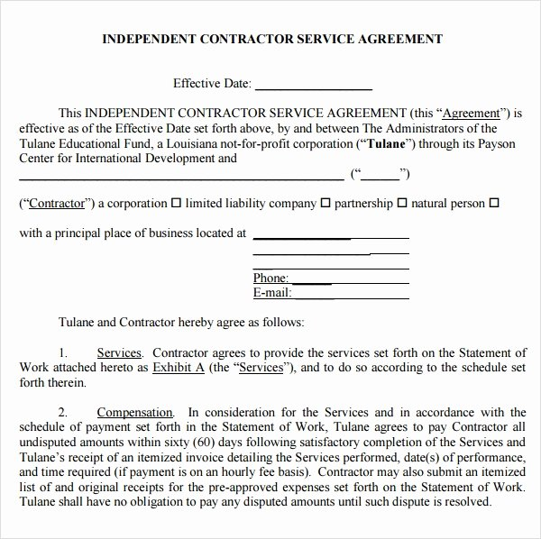 Master Service Agreement Template Lovely Free 18 Service Agreement Templates In Google Docs
