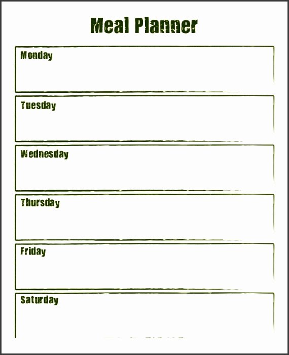 Meal Plan Template Word Awesome 10 Weekly Meal Planner Example Sampletemplatess