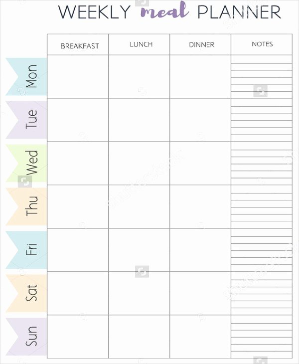 Meal Plan Template Word Awesome Meal Plan Template