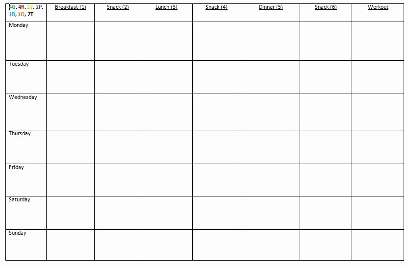 Meal Plan Template Word Inspirational How I Prep for the Week