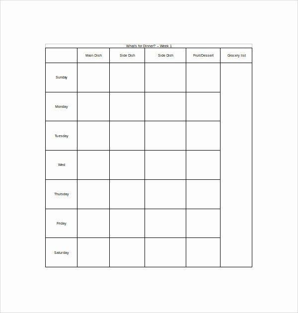 Meal Plan Template Word Inspirational Sample Weekly Meal Plan Template 14 Free Documents In