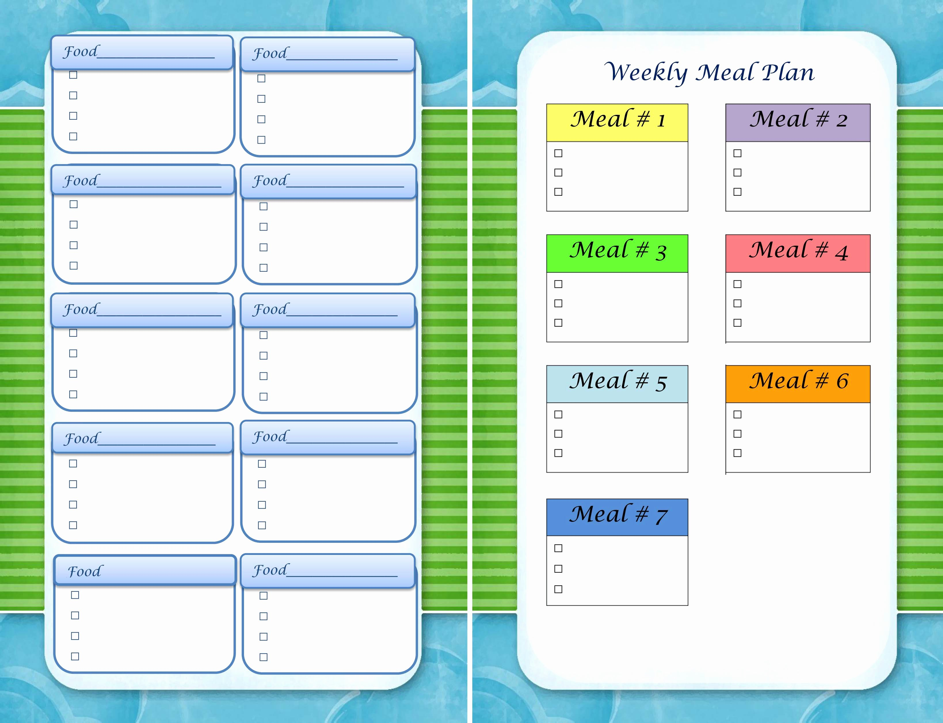 Meal Plan Template Word Inspirational Tasty Tuesday A Week Of Meal Ideas