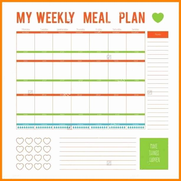 Meal Plan Template Word Lovely 12 Editable Menu Planner