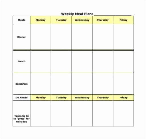 Meal Plan Template Word Lovely Meal Plan Templates Find Word Templates