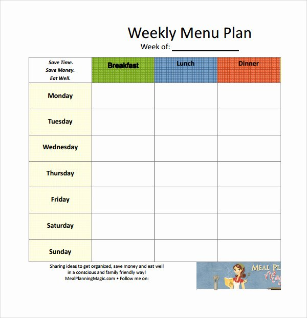 Meal Plan Template Word Luxury Sample Weekly Meal Plan Template 14 Free Documents In