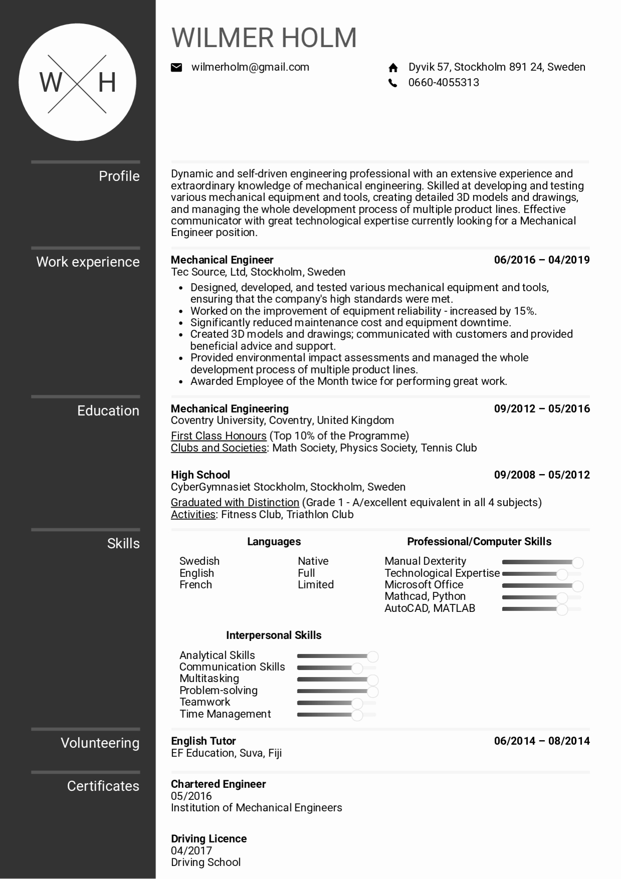 Mechanical Engineer Resume Sample Awesome Resume Examples by Real People Mechanical Engineer Resume