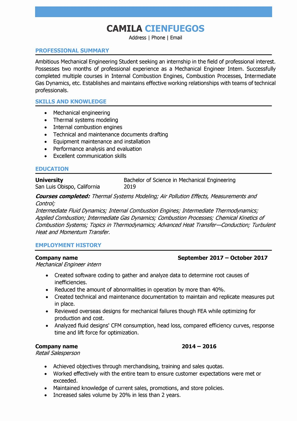 Mechanical Engineer Resume Sample Best Of Mechanical Engineer Resume Samples and Writing Guide