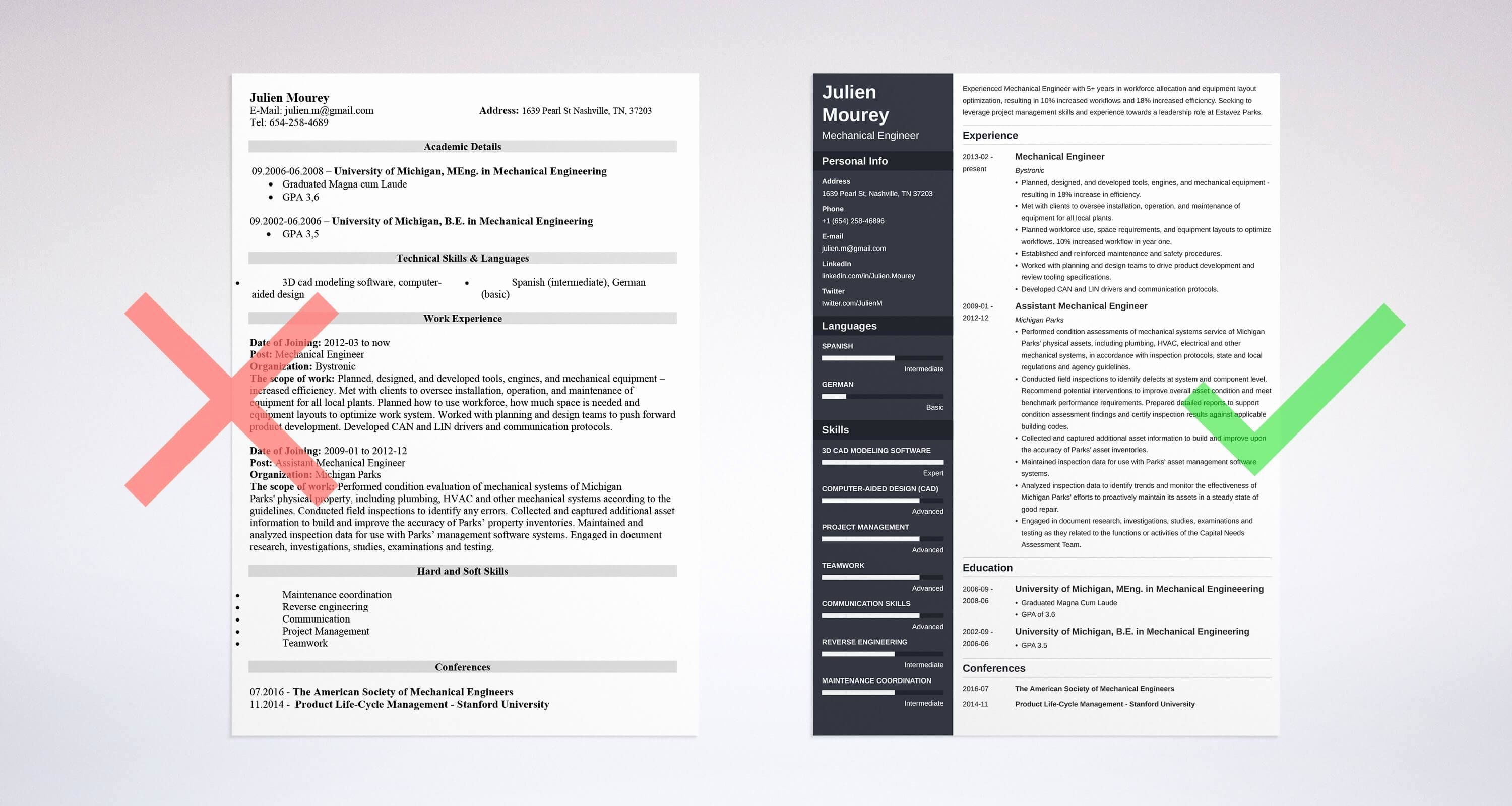 Mechanical Engineer Resume Sample Best Of Mechanical Engineering Resume Sample & Guide [20 Examples]