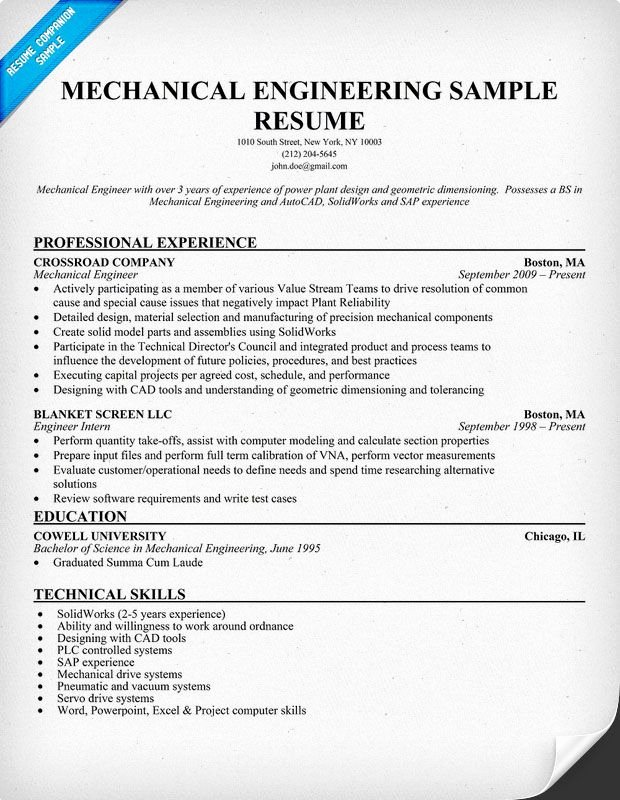 Mechanical Engineer Resume Sample Elegant Mechanical Engineering Resume Sample Resume Panion