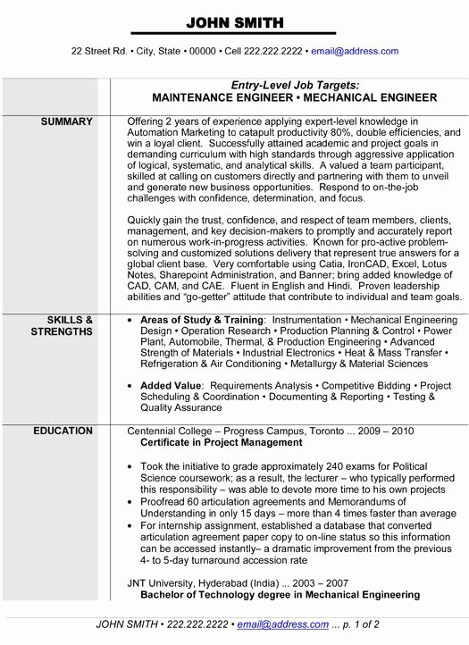 Mechanical Engineer Resume Sample Inspirational 10 Best Images About Best Mechanical Engineer Resume