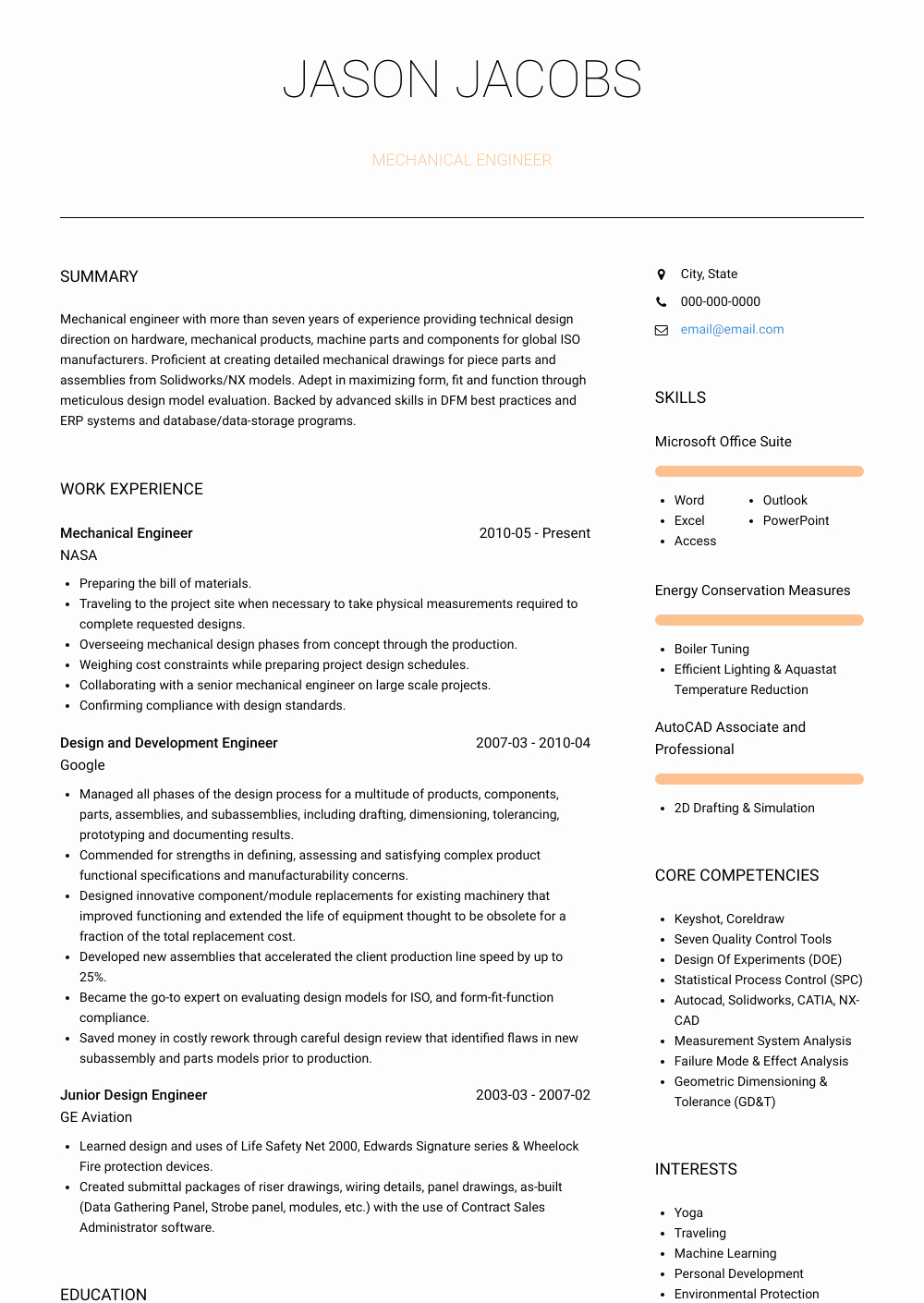 Mechanical Engineer Resume Sample Lovely Mechanical Design Engineer Resume Samples & Templates