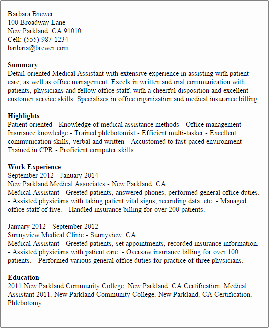 Medical assistant Resume Template Awesome 1 Medical assistant Resume Templates Try them now