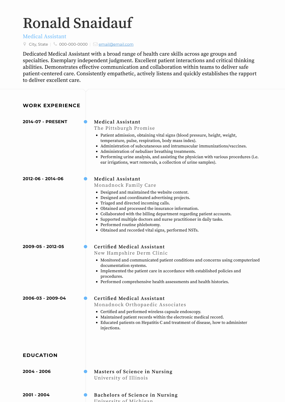 Medical assistant Resume Template Best Of Medical assistant Resume Samples & Templates