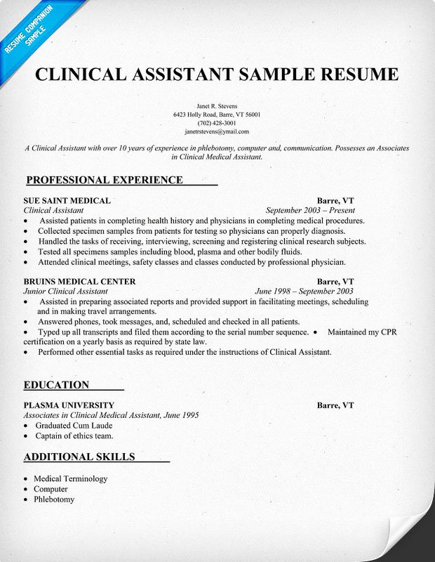 Medical assistant Resume Template Best Of Sample Resumes for Medical assistant
