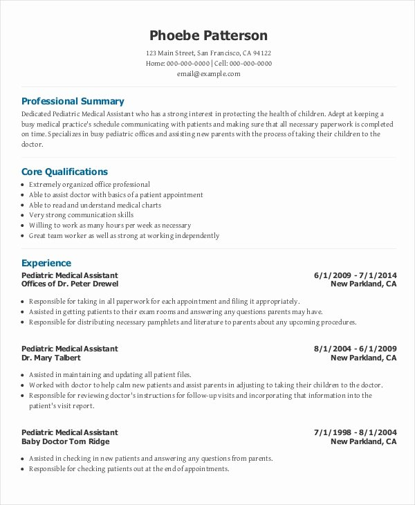 Medical assistant Resume Template Inspirational 7 Senior Administrative assistant Resume Templates – Pdf