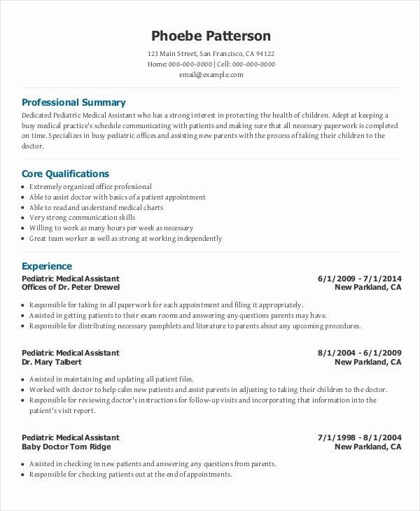 Medical assistant Resume Template Inspirational 7 Senior Administrative assistant Resume Templates – Pdf