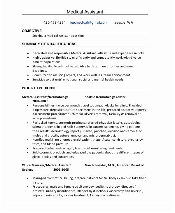 Medical assistant Resume Template New 15 Best Education Resume Templates Pdf Doc