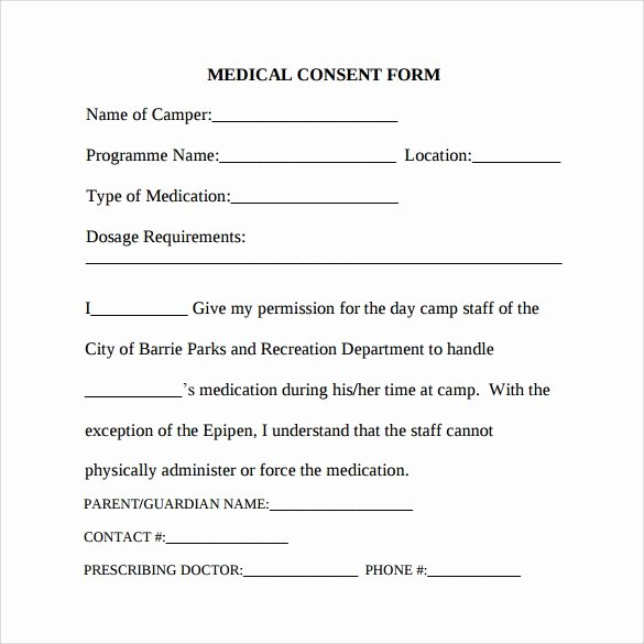 Medical Consent form Template Awesome Free 6 Sample Medical Consent forms In Pdf