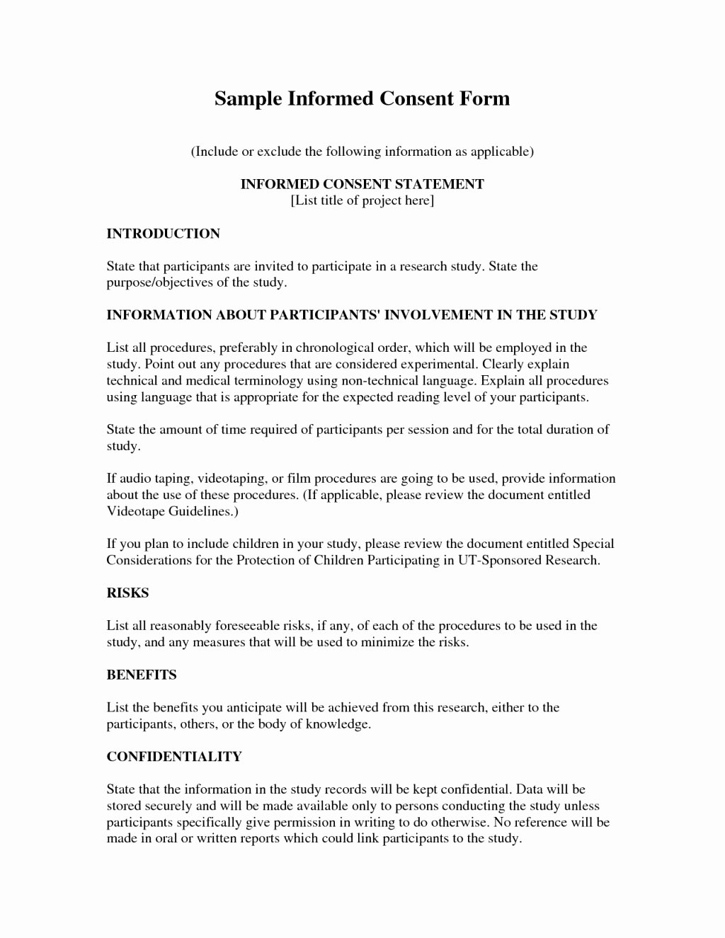 Medical Consent form Template Awesome Medical Consent Letter Template Collection