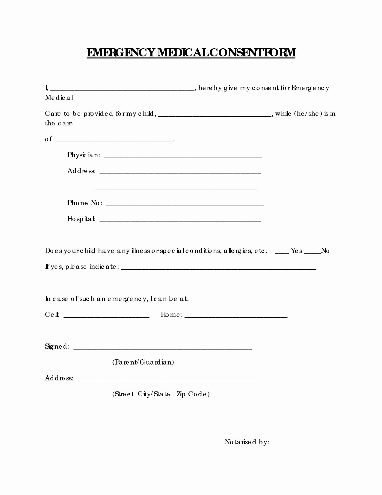 Medical Consent form Template Elegant Medical Consent Letter for Grandparents Template