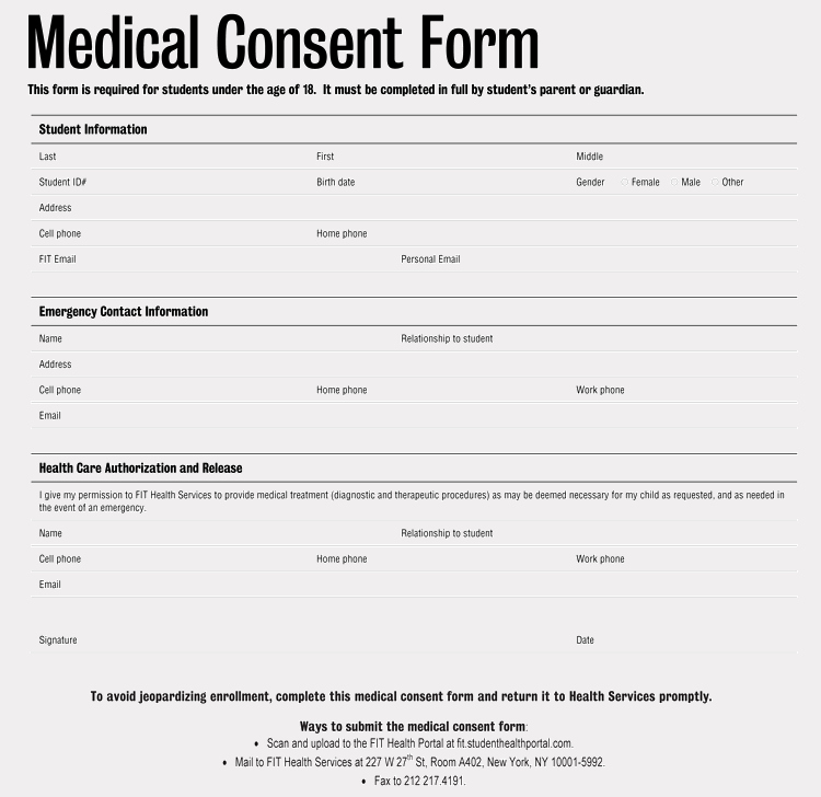 Medical Consent form Template New Free Medical Consent forms for Minor Child – Word