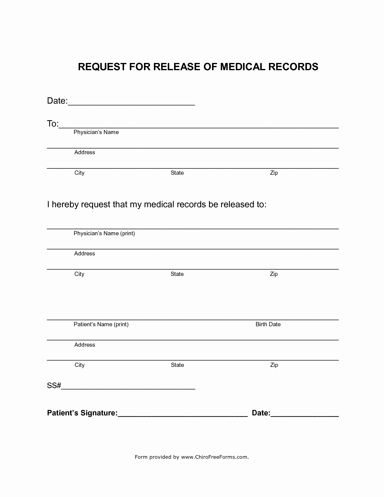 Medical Record Release form New Simahealing Blog