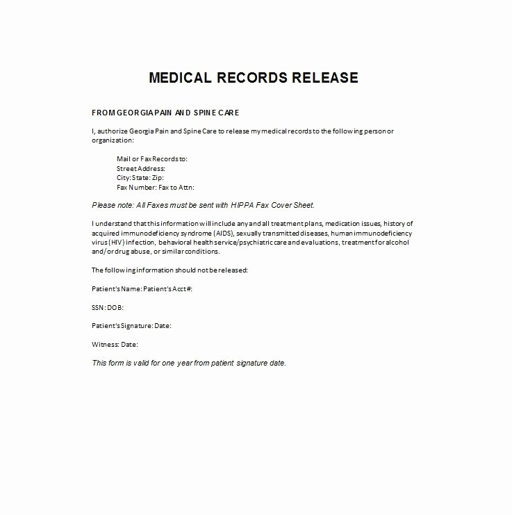 Medical Release form Template Best Of 30 Medical Release form Templates Template Lab