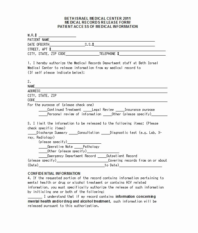 Medical Release form Template Elegant 30 Medical Release form Templates Template Lab