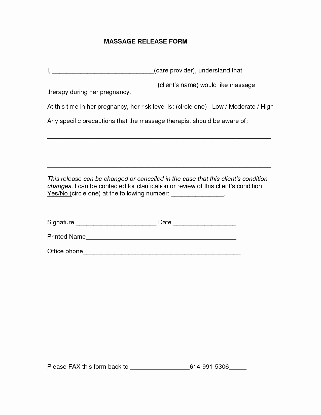 Medical Release form Template Inspirational Medical Release form