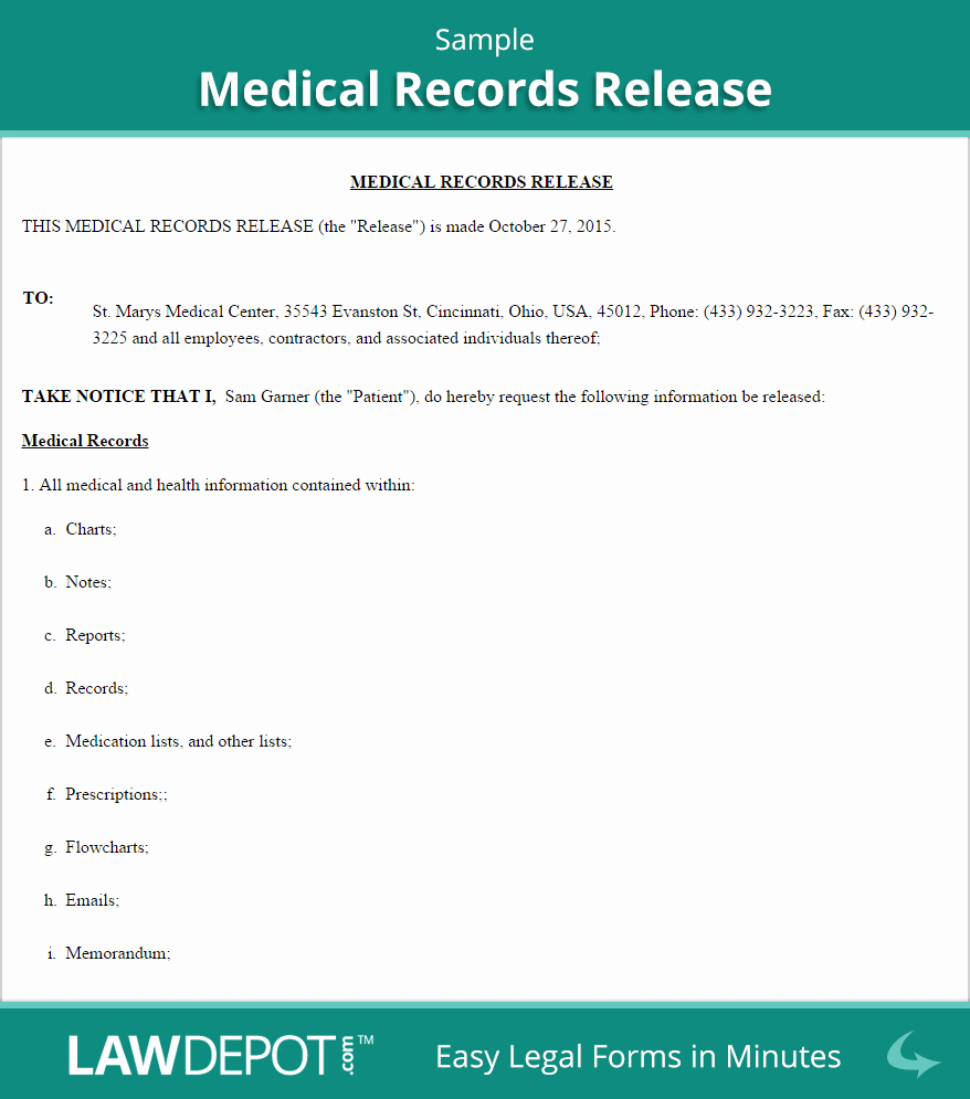 Medical Release form Template Luxury Medical Disclosure form – Templates Free Printable