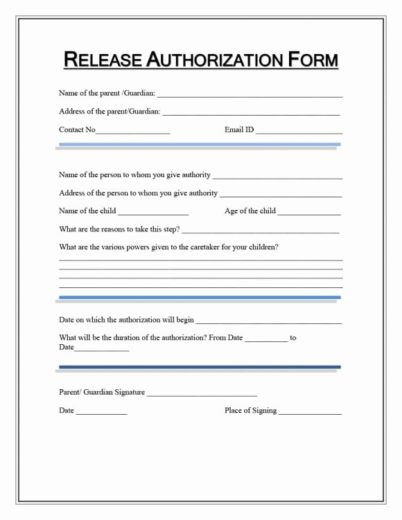 Medical Release form Template Unique 40 Medical Records Release form Release Of Information
