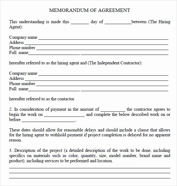 Memorandum Of Understanding Sample Beautiful 13 Memorandum Of Agreements Pdf Word