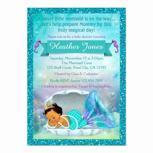 Mermaid Baby Shower Invitations Best Of Adorable Mermaid Baby Shower Invitations 136 Med