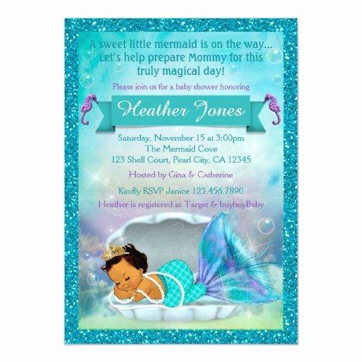 Mermaid Baby Shower Invitations Best Of Adorable Mermaid Baby Shower Invitations 136 Med