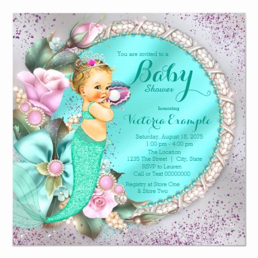Mermaid Baby Shower Invitations Fresh Mermaid Baby Shower Invitation