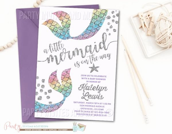 Mermaid Baby Shower Invitations Inspirational Mermaid Invitation Mermaid Baby Shower Invitation