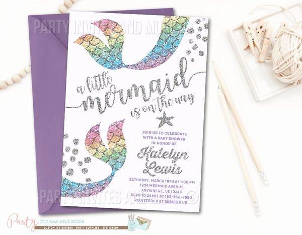 Mermaid Baby Shower Invitations Inspirational Mermaid Invitation Mermaid Baby Shower Invitation